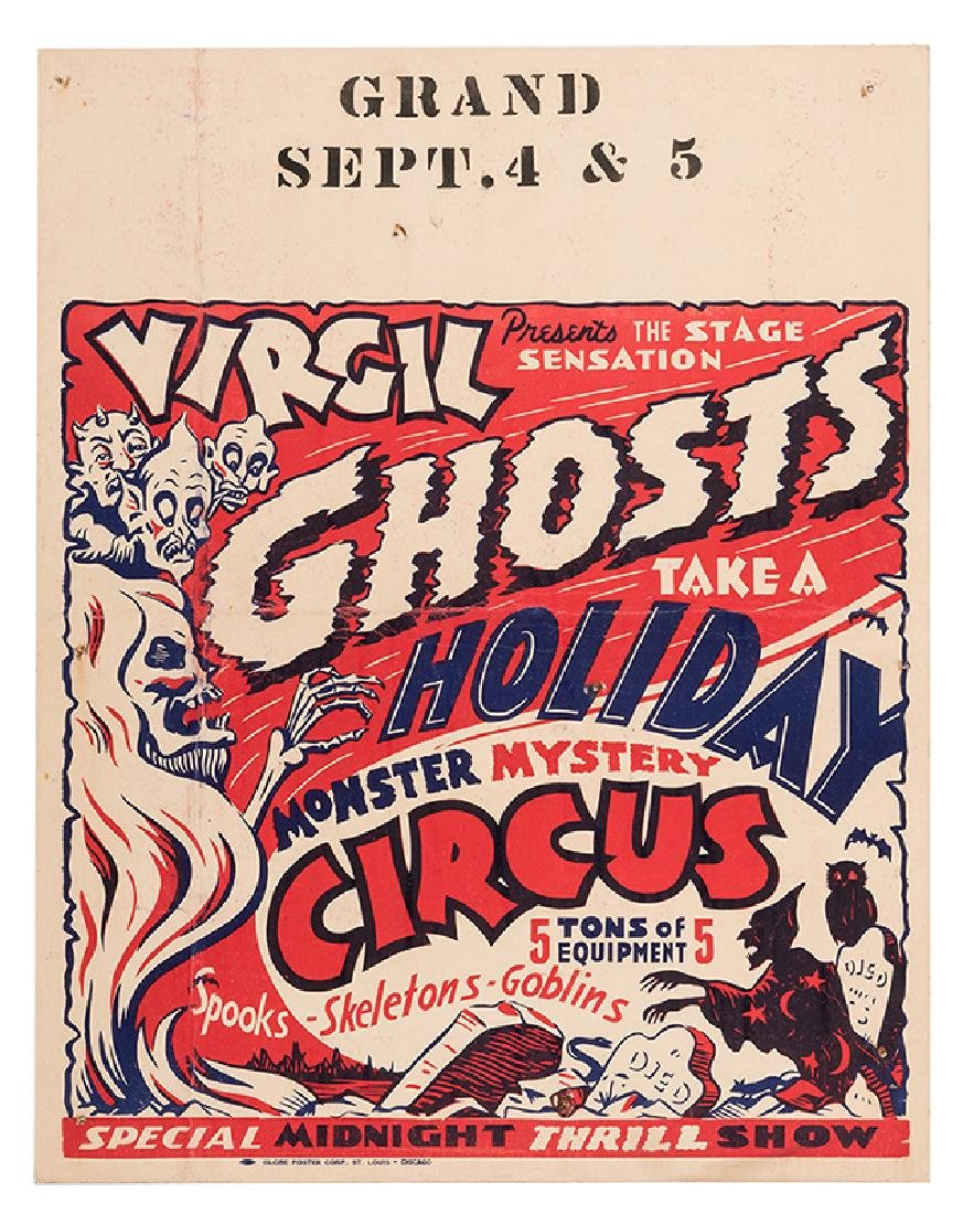 "Virgil Presents the Stage Sensation ""Ghosts Take a"
