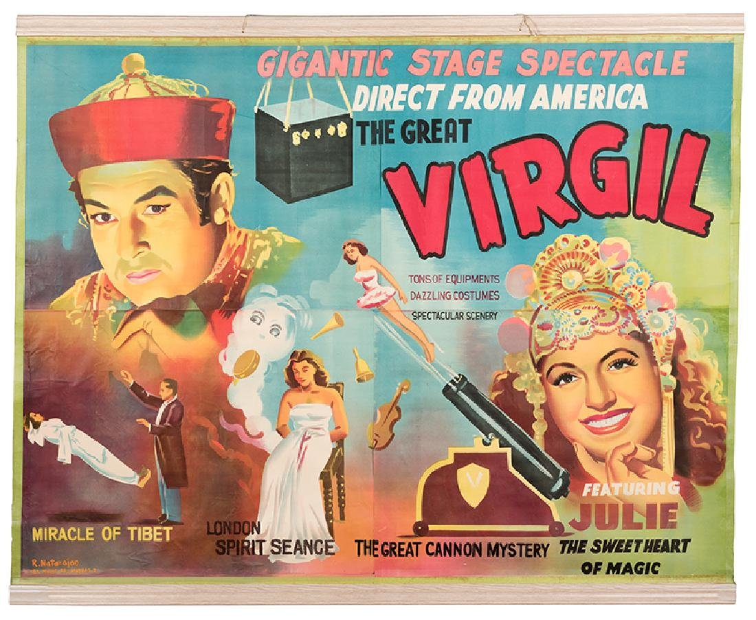 The Great Virgil. Gigantic Stage Spectacle.