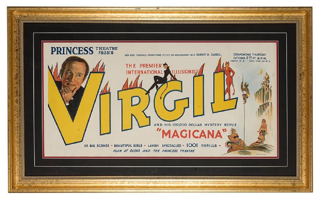 The Premier International Illusionist. Virgil.