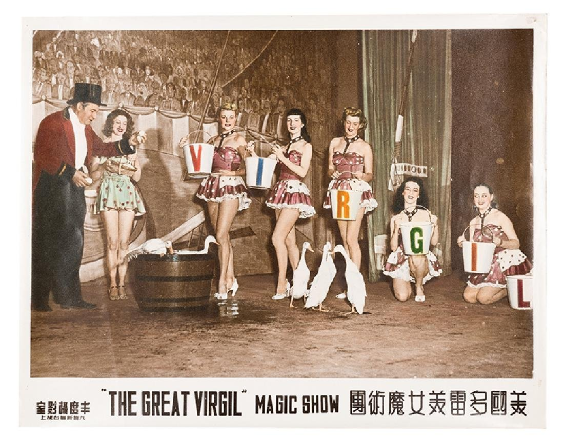 Series of Six Colorized World Tour Lobby Photographs of