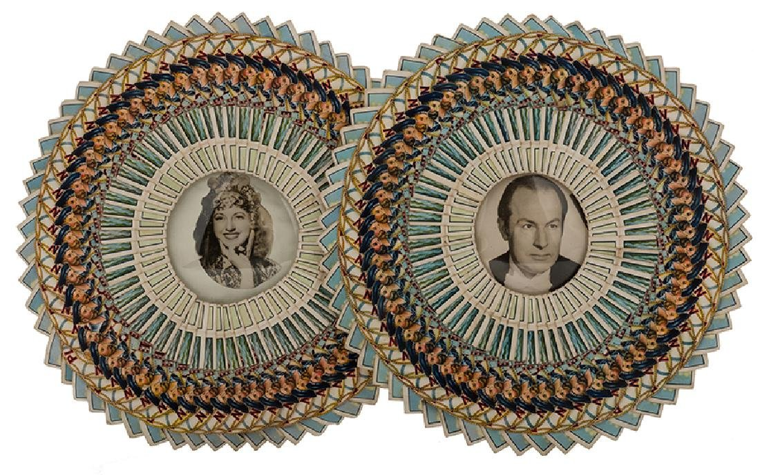 Pair of Photographs of Virgil and Julie in Presentation