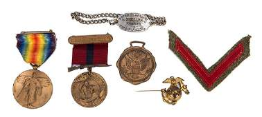 Group of Virgils World War I Marine Corps Service
