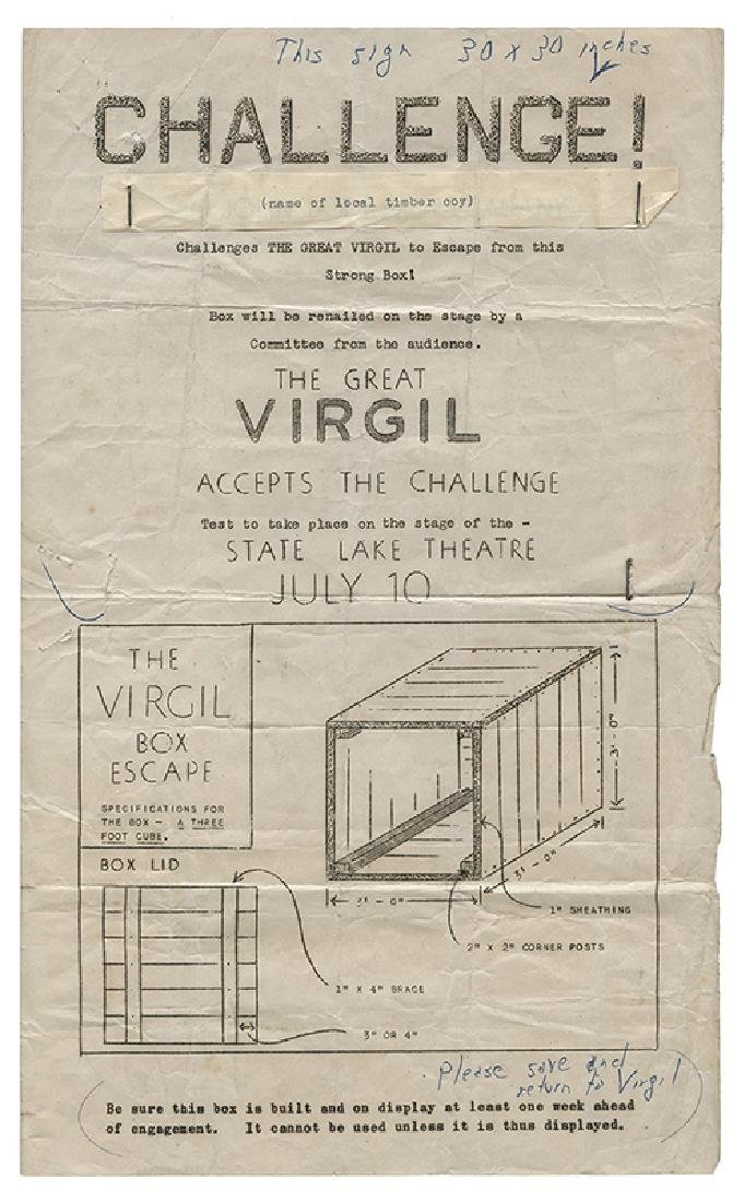 The Great Virgil Escape Act Prints and Photos.