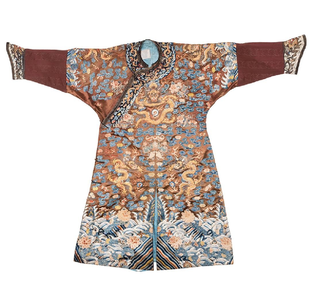 Virgil's Chinese Imperial Chestnut Dragon Robe.