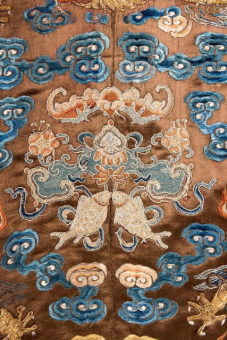 Virgil's Chinese Imperial Chestnut Dragon Robe. - 4