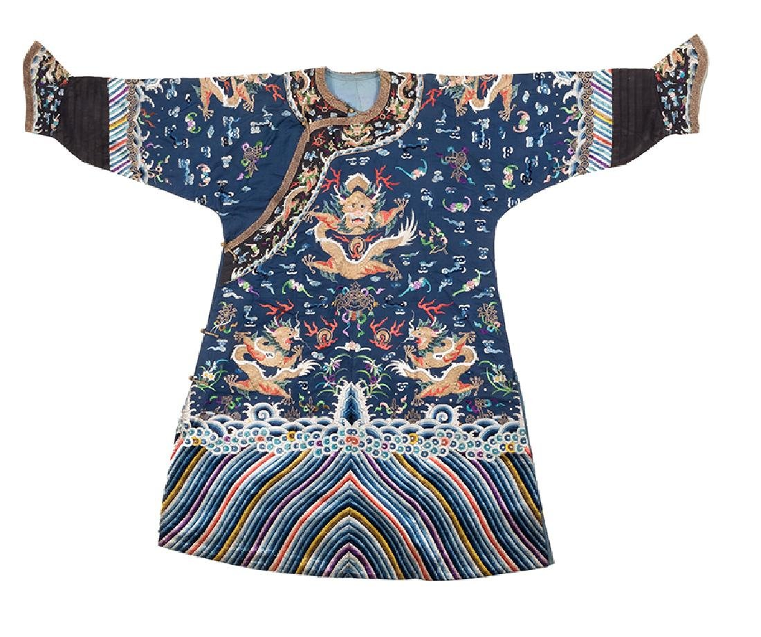 Chinese Imperial Blue Dragon Robe.