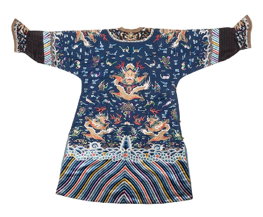 Chinese Imperial Blue Dragon Robe. - 2