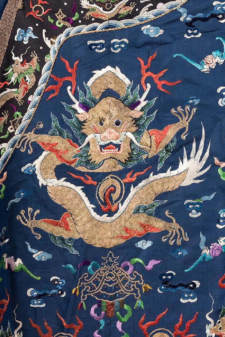 Chinese Imperial Blue Dragon Robe. - 3