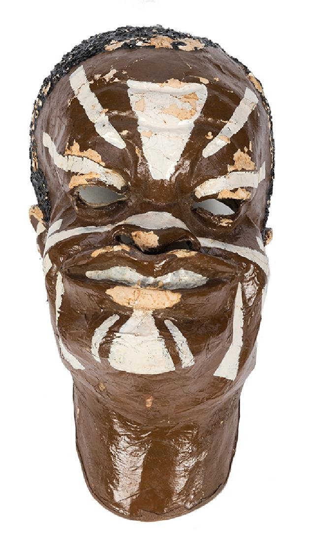 Theatrical African Cannibal Mask from The Great Virgil