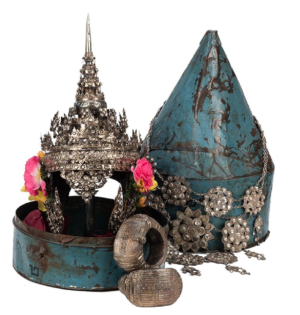 Antique Thai Ceremonial Dance Headdress and