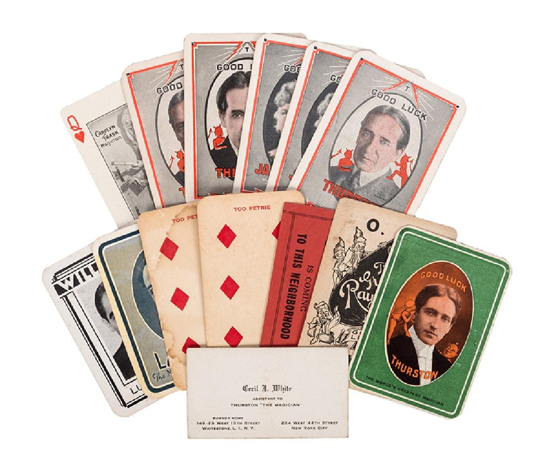 Group of 13 Magicians' Throw-Out and Business Cards.