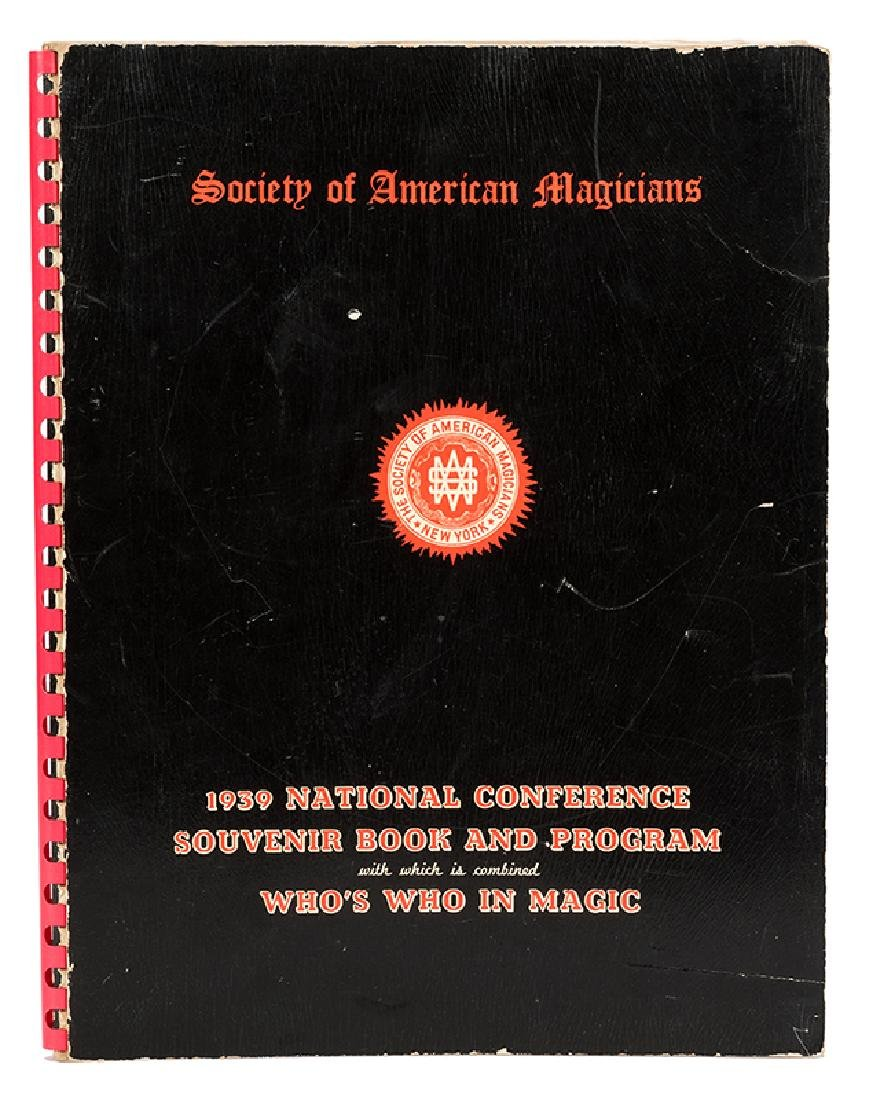 S.A.M. 1939 National Conference Souvenir Book Signed by