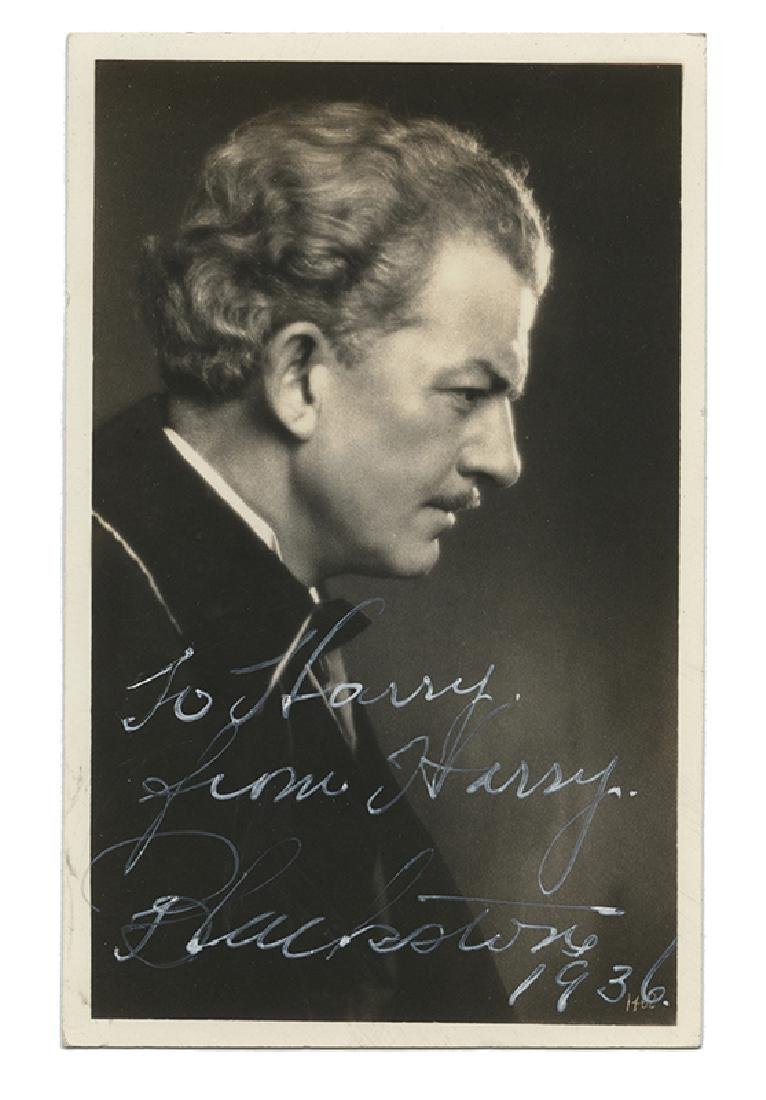 Signed Real Photo Postcard of Harry Blackstone.