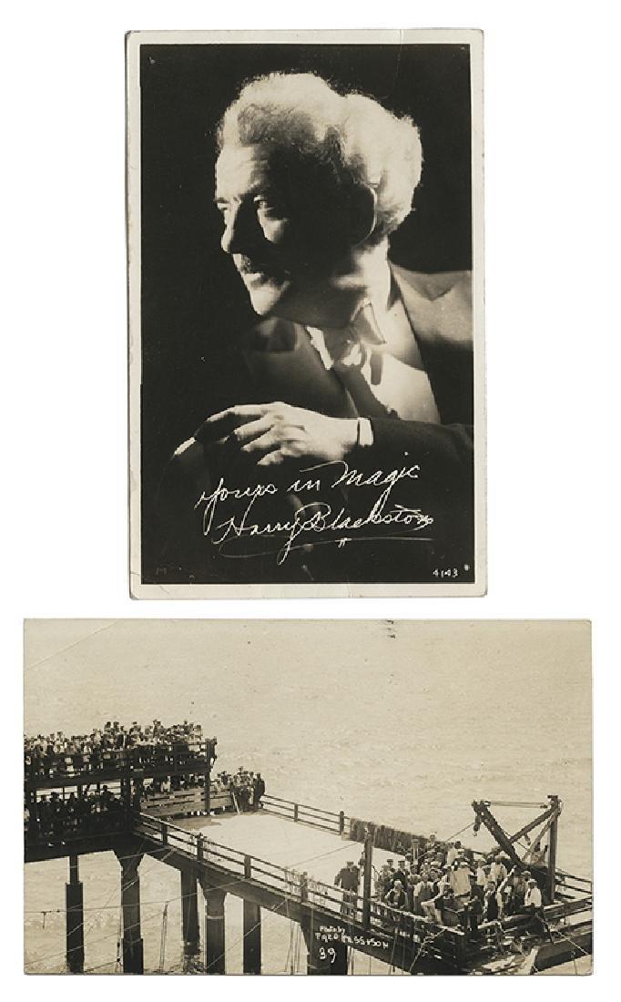 Harry Blackstone Overboard Box Escape Postcard.