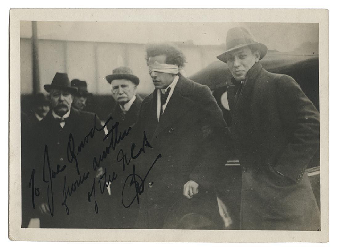 Joseph Dunninger Blindfolded Snapshot Signed to a