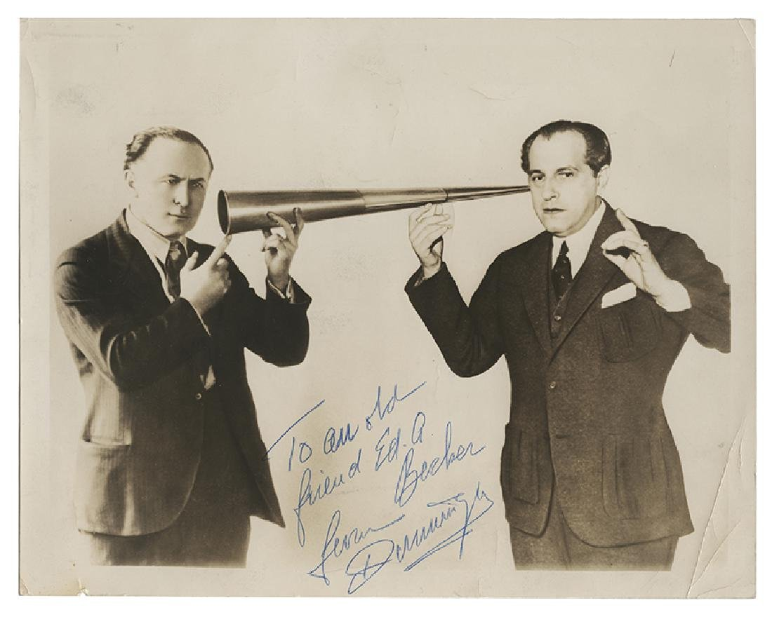 Joseph Dunninger and Harry Houdini Spirit Trumpet