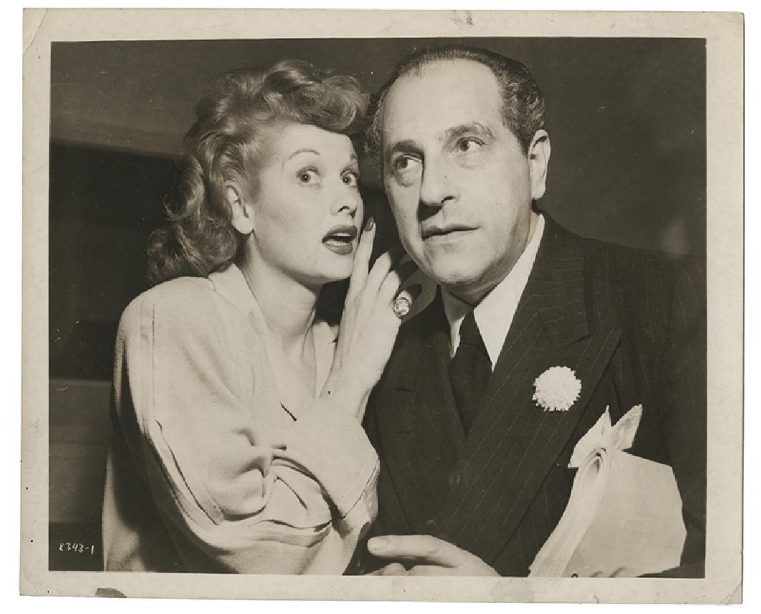 Joseph Dunninger and Lucille Ball Photograph.