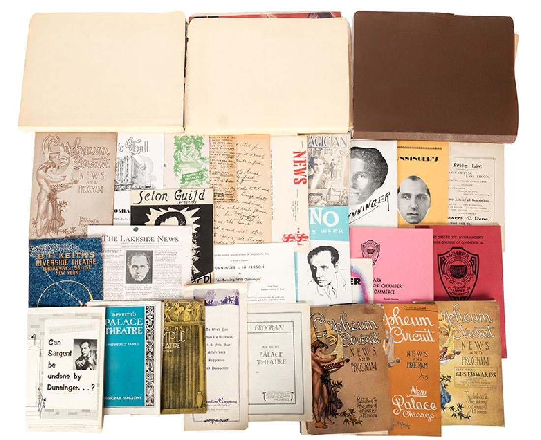 Collection of Dunninger Programs, Clippings, and