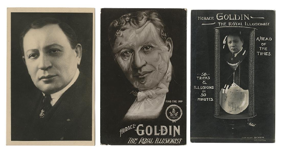 Group of Three Horace Goldin Postcards.