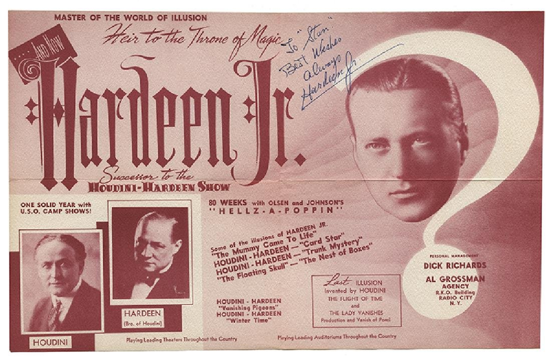 File of Hardeen Jr. and Hellz-a-Poppin' Ephemera. - 2