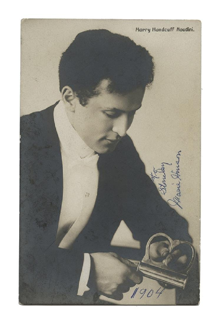 Harry Handcuff Houdini Real Photo Postcard.