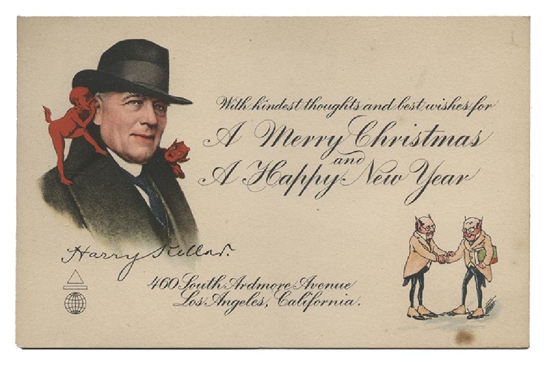 Harry Kellar Christmas and New Year Postcard.