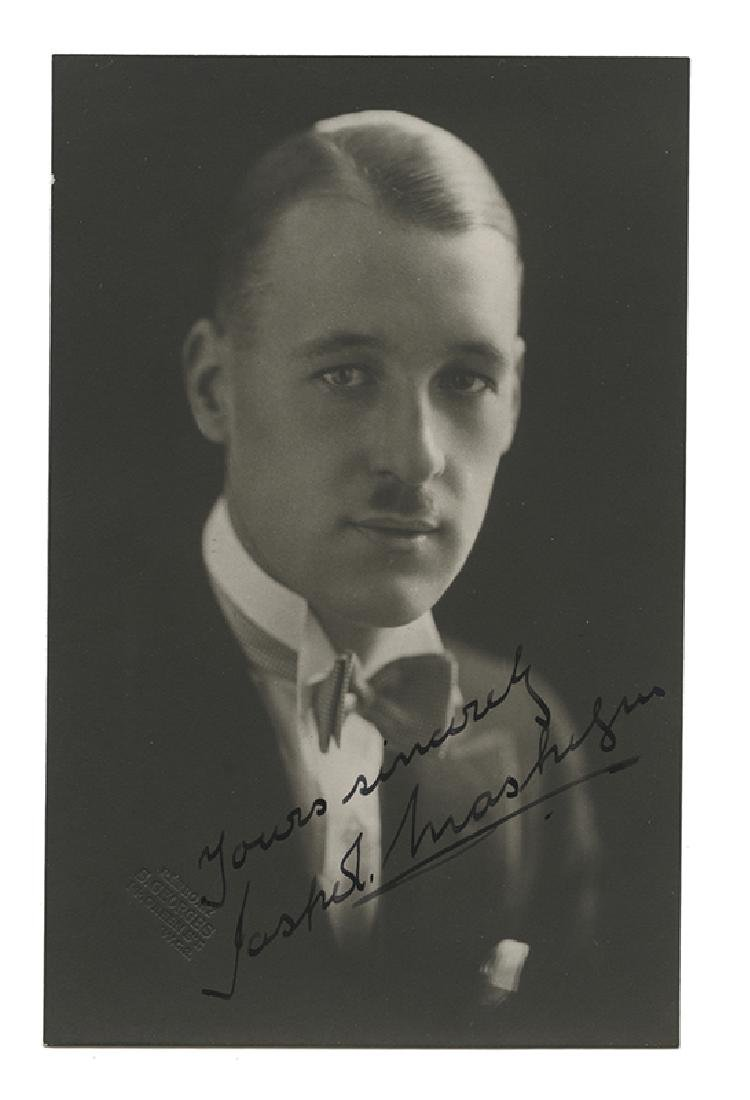 Signed Real Photo Postcard of Jasper Maskelyne.
