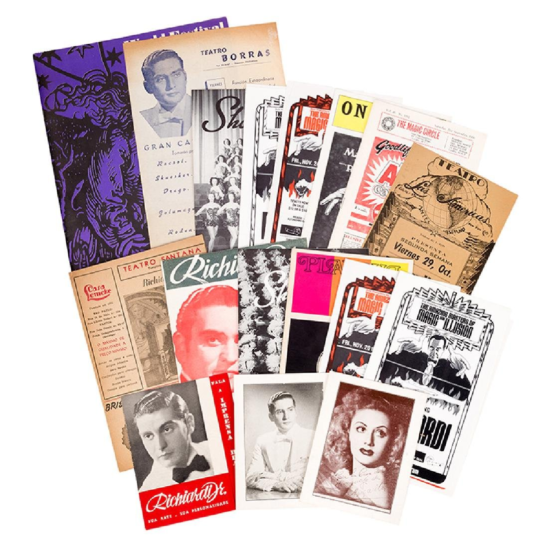 File of Richiardi Jr. Ephemera. Programs, Playbills,