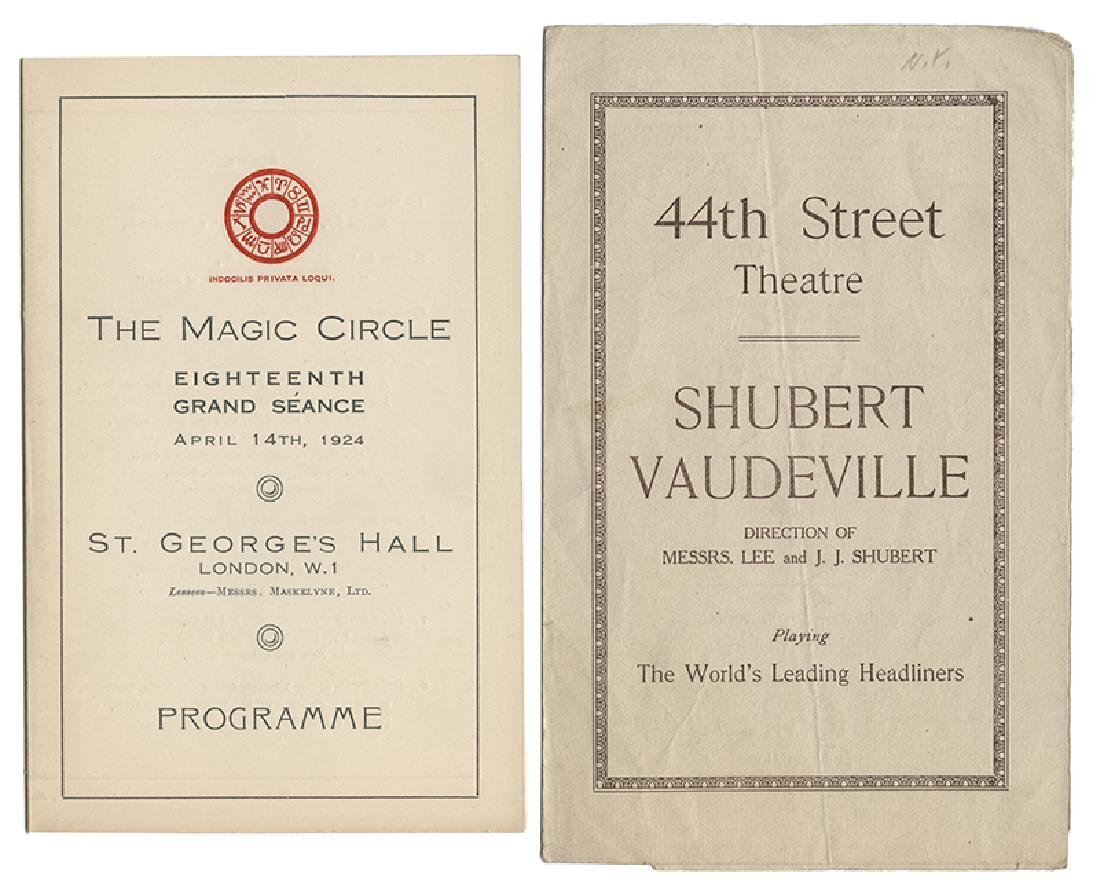 Group of P.T. Selbit Theatrical Programs.