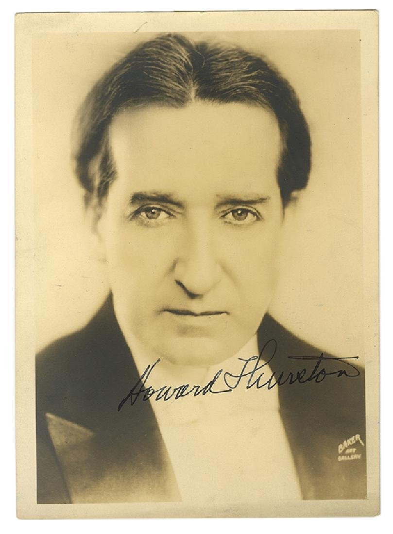 Portrait Photograph of Howard Thurston Signed.