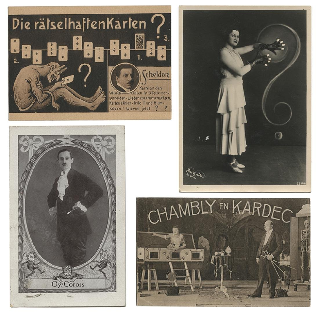 Group of 7 Postcards of German Magicians.