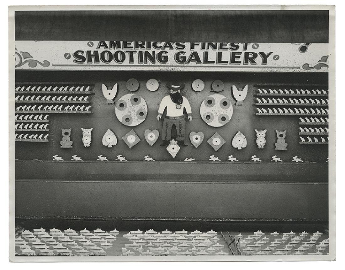 "Vintage ""Sneaky Pete"" Shooting Gallery Photograph."