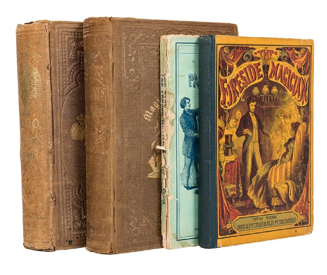 Four Antiquarian Dick & Fitzgerald Volumes on Magic.