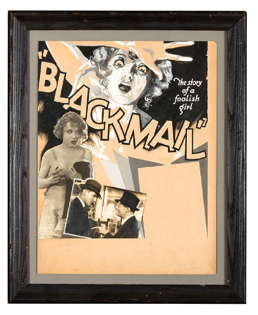 """Alfred Hitchcock's """"Blackmail"""". Original Advertising"""