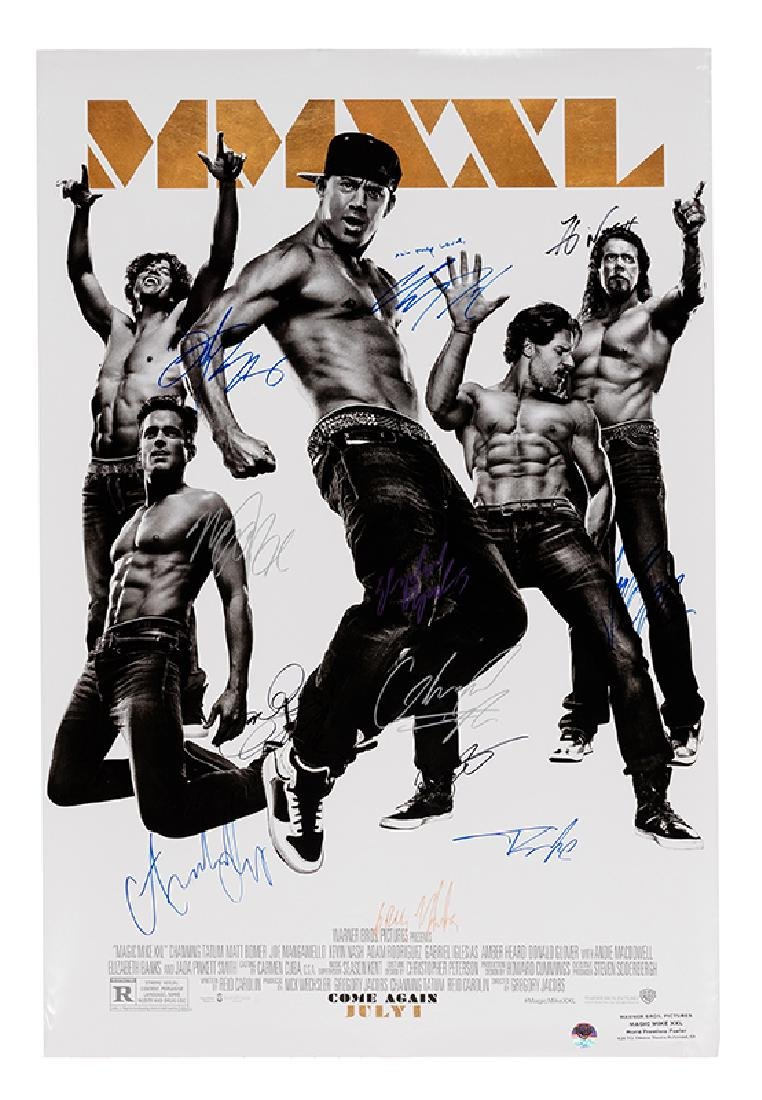 """Magic Mike XXL"" Cast-Signed Movie Premier Poster."