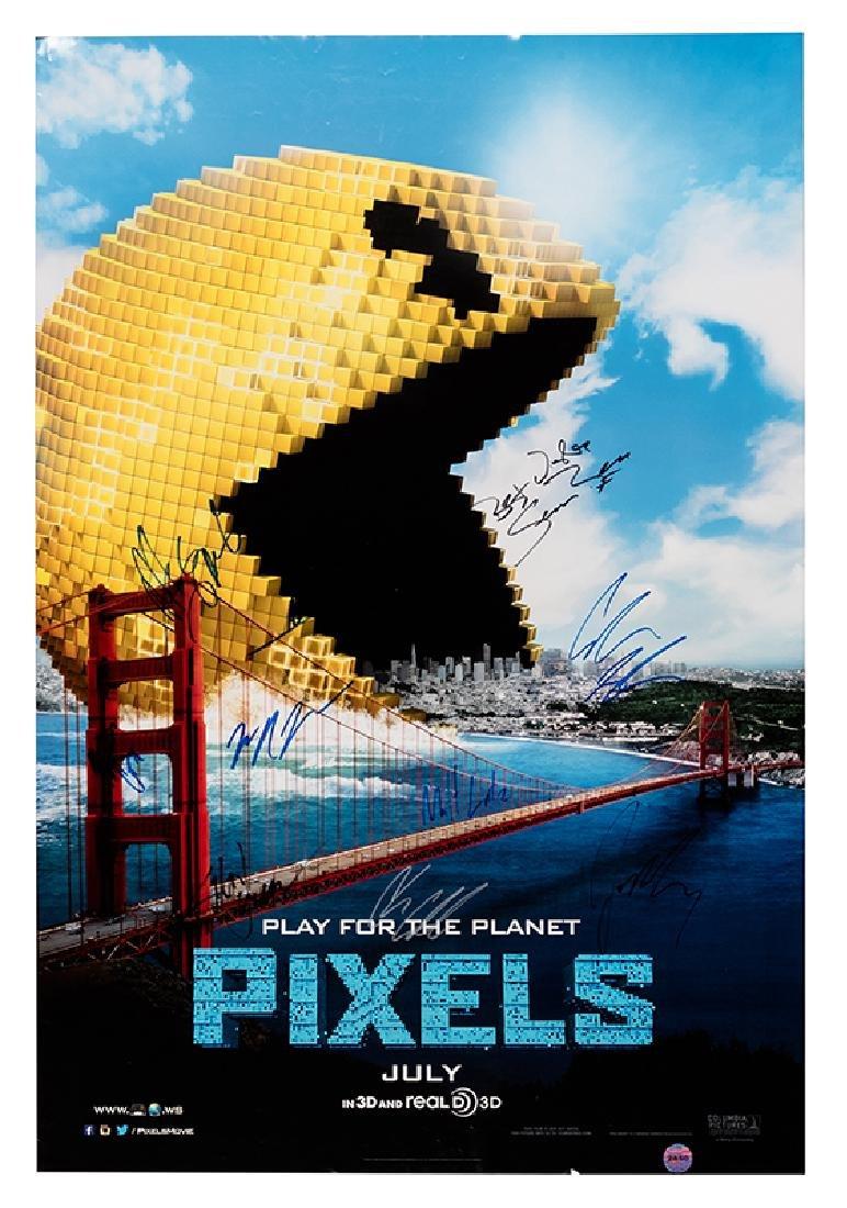 """Pixels"" Cast-Signed Movie Premier Poster."
