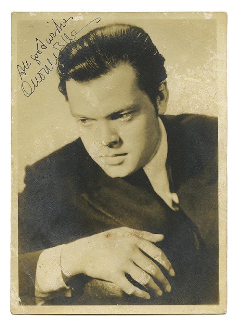 Orson Welles Signed Publicity Photograph.