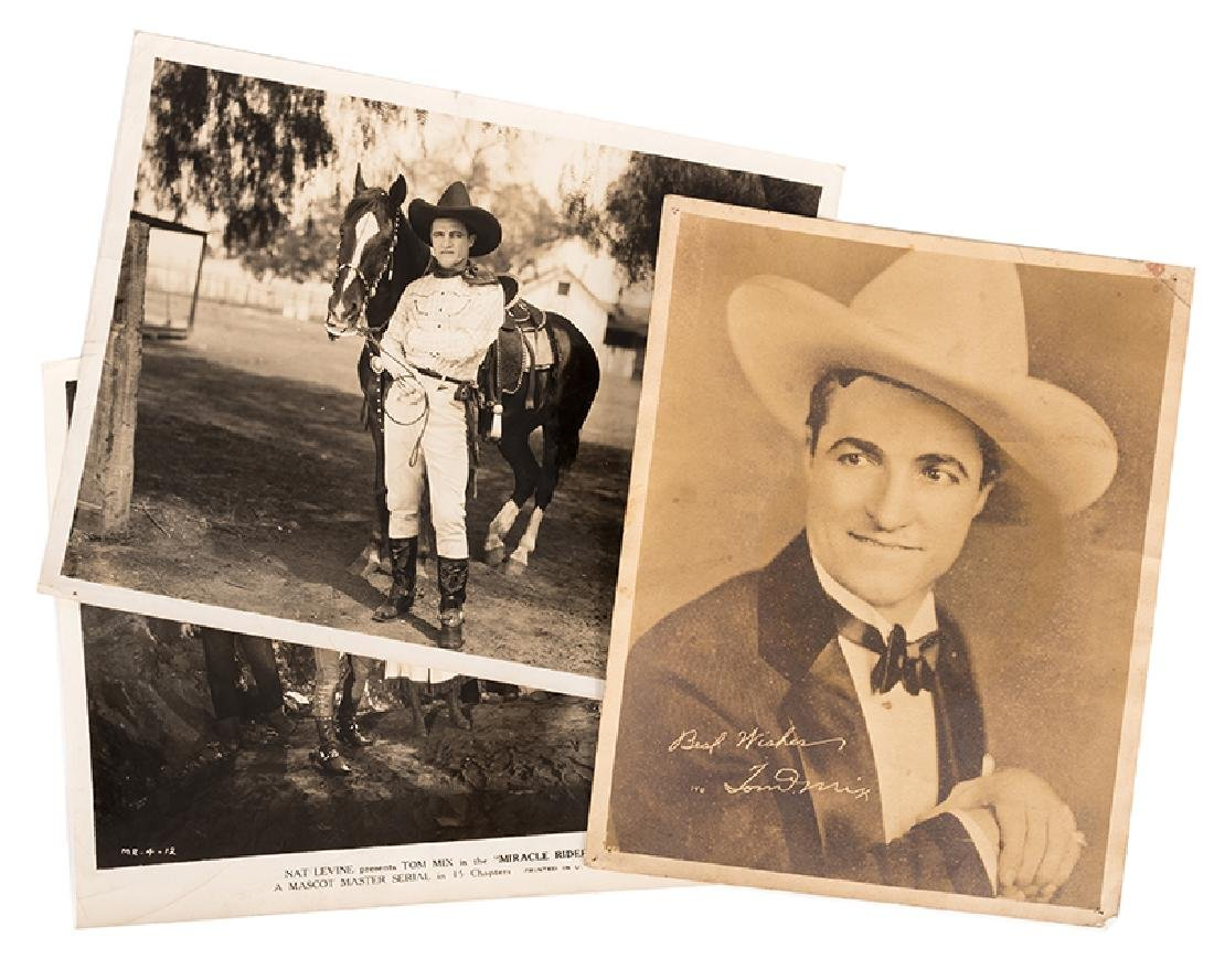 Group of Movie Stills and Photos of Tom Mix.