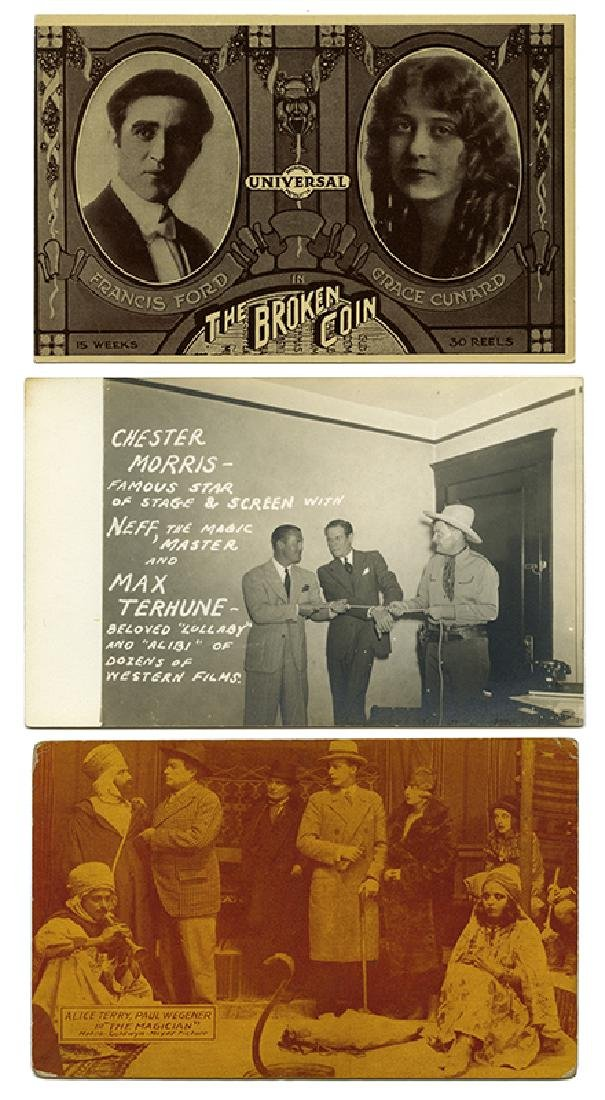 Group of Three Magicians Advertising Postcards.
