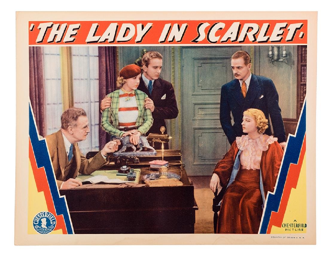 """""""The Lady in Scarlet"""" Lobby Card Set."""