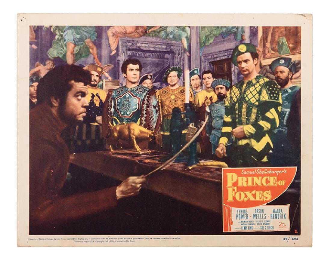 """""""Prince of Foxes"""" Lobby Card Set."""