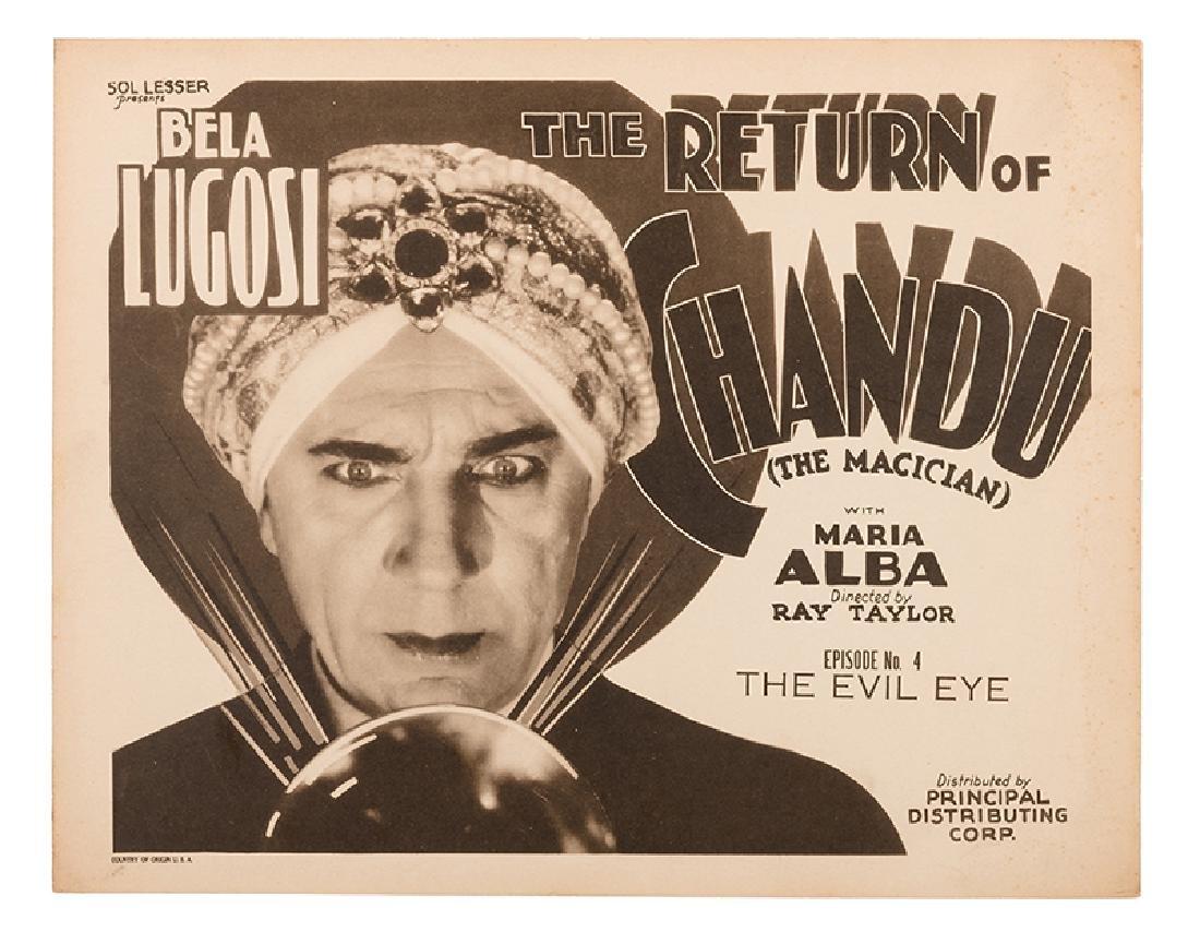 """""""The Return of Chandu"""" Title Lobby Card."""