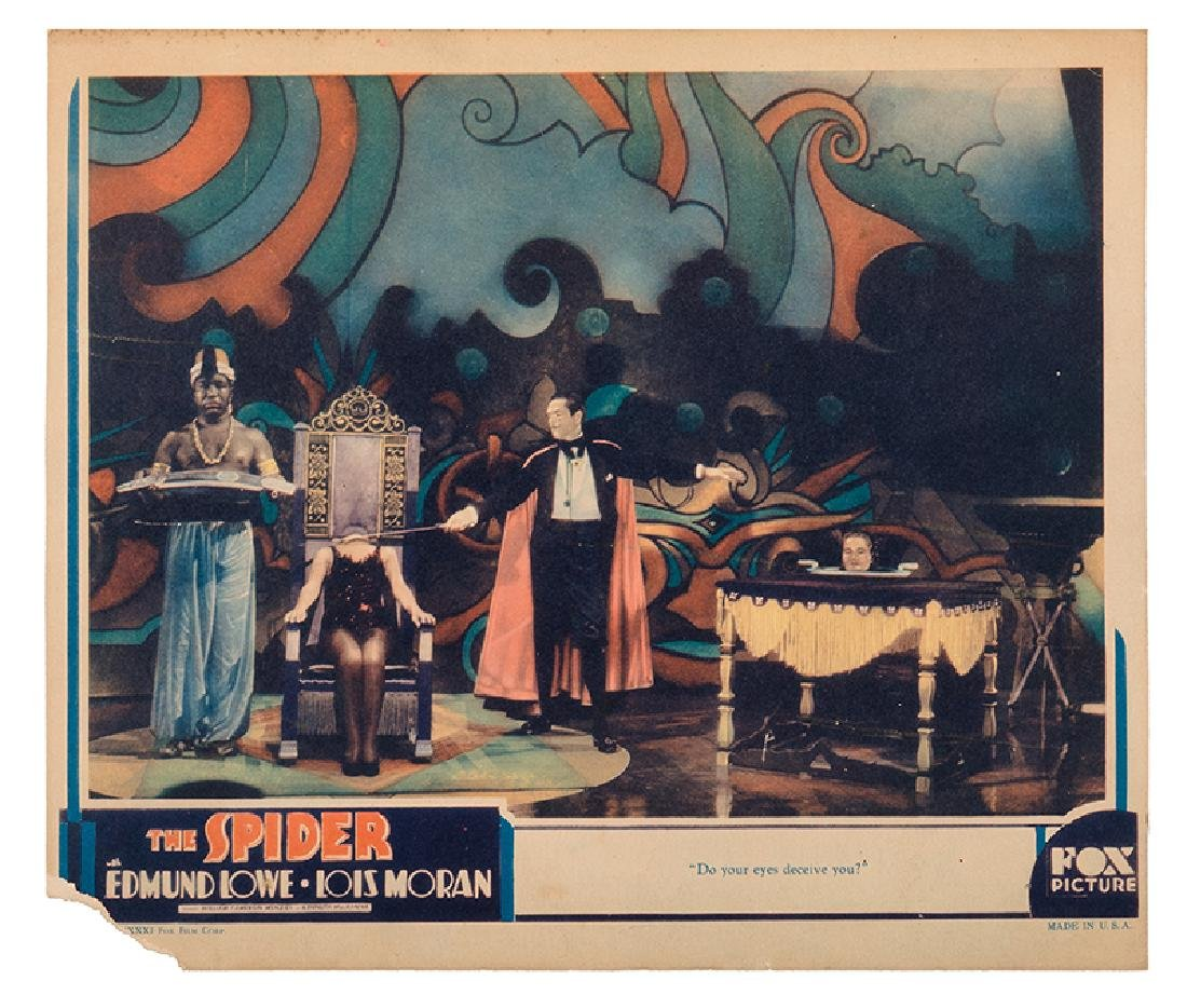 """Three Lobby Cards from """"The Spider."""""""