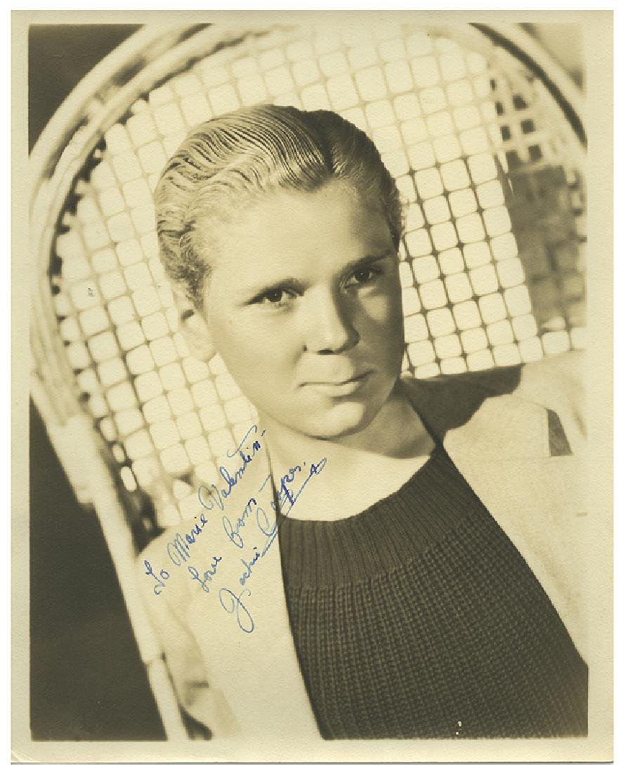 Jackie Cooper Signed Publicity Photograph.