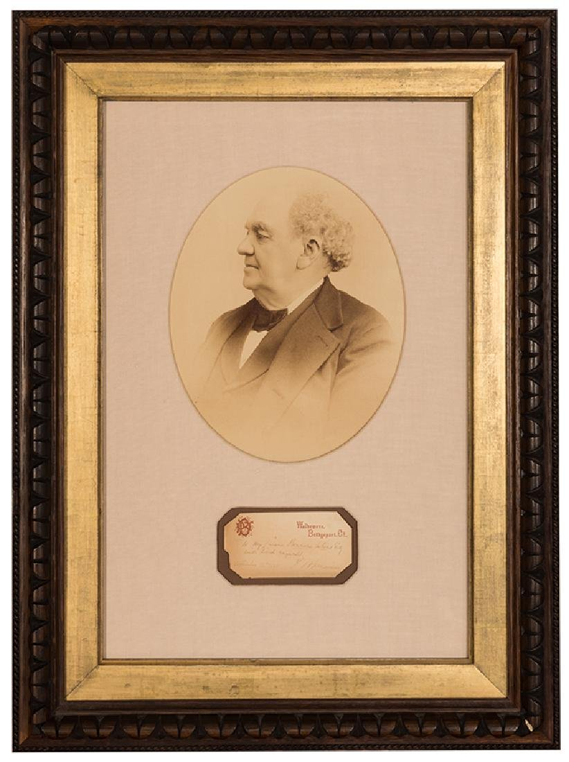 Framed Photograph Portrait and Autograph of P.T.