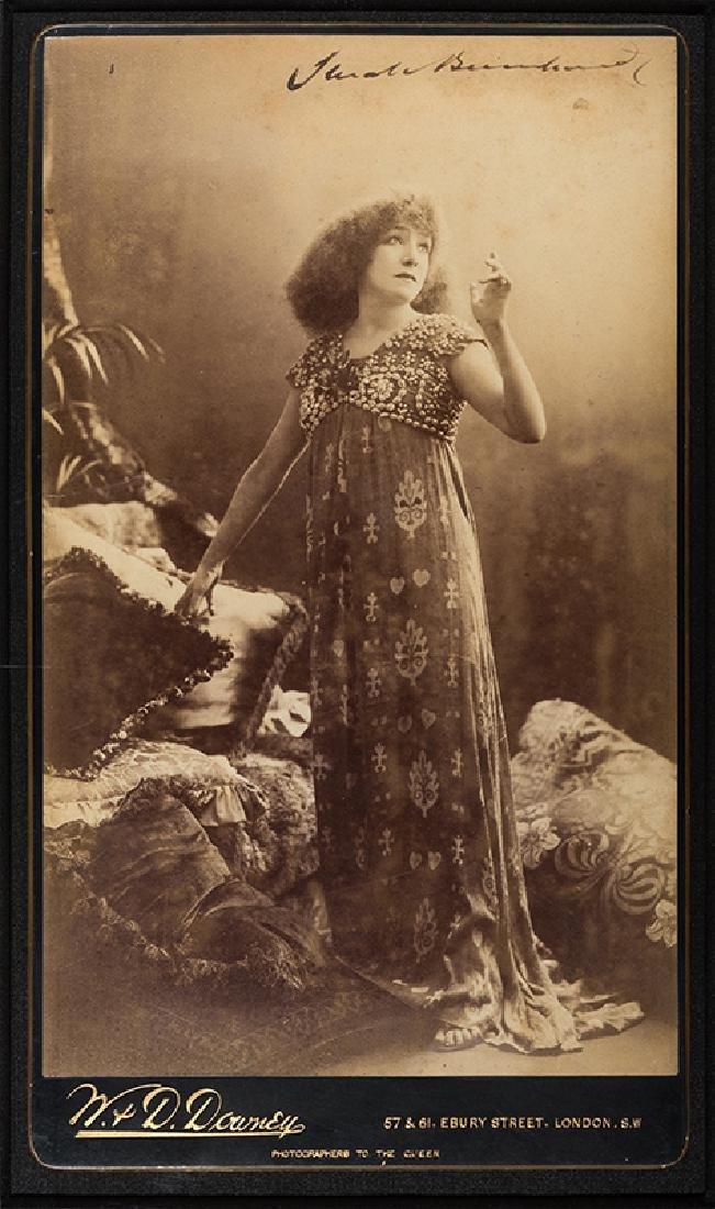 Sarah Bernhardt Signed Large Panel Card Photograph.