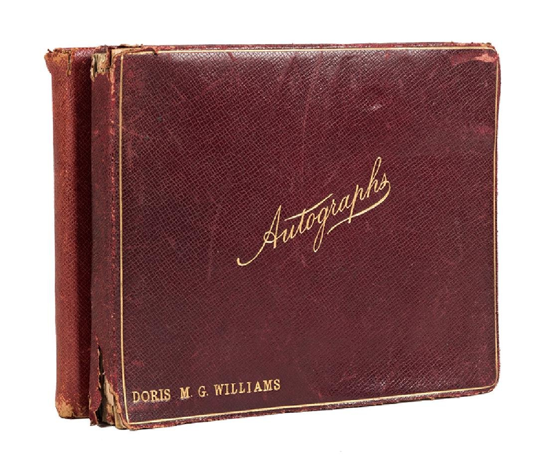 Fantastic Pair of Illustrated Autograph Albums Signed
