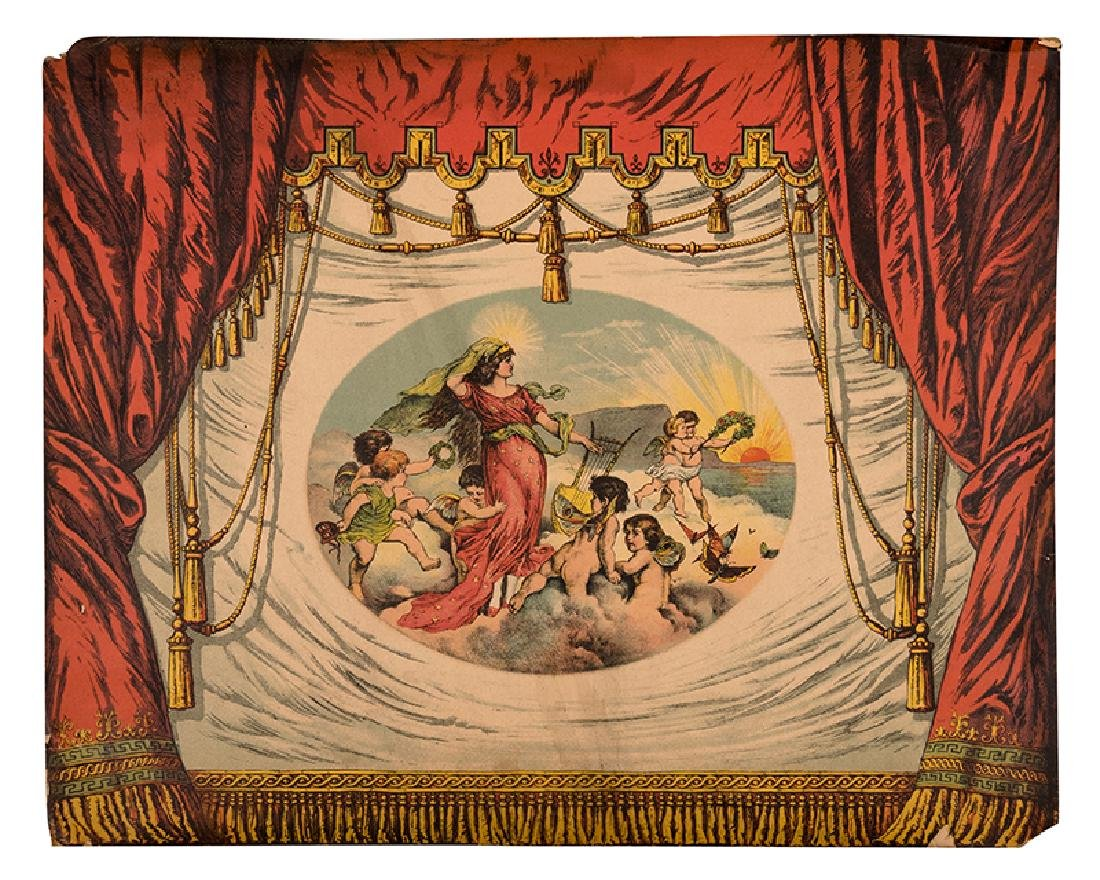 A Massive Collection of Antique Toy Theater Scenery and