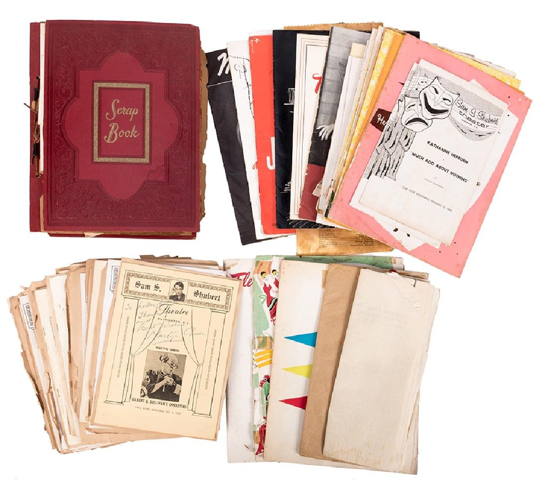 Outstanding Scrapbook of Theatrical Playbills and