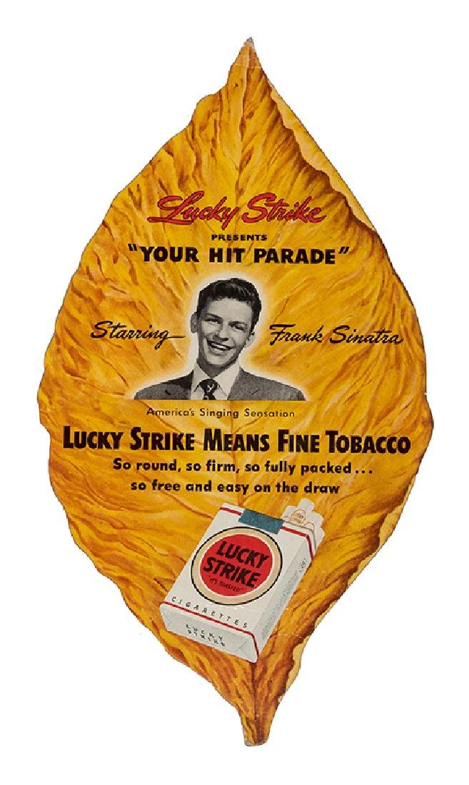 "Frank Sinatra ""Your Hit Parade"" Lucky Strike Die-Cut"